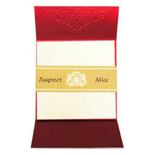 Order Invitation Cards Online Traditional Indian Wedding Card With Gold Foil Printing