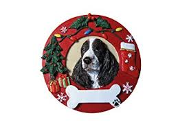 springer spaniel ornament personalized and