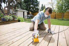 how to clean and refinish a wood deck