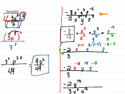 showme simplifying fractions with variables and exponents