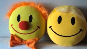 handmade pillows smiley clown