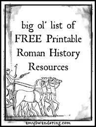 roman history printable resources amy u0027s wandering