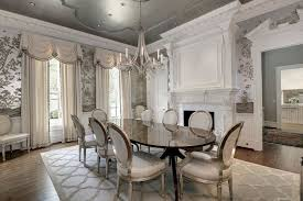 Dining Rooms With Wainscoting Traditional Dining Room With Stone Fireplace U0026 Crown Molding In Mc