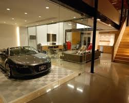 garage living space amazing car showroom design with living room luxury garage glass