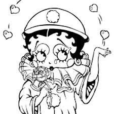 betty boop waiting for sunset coloring page betty boop waiting