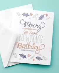 Merry Birthday Card Merry Sir Isaac Newton S Birthday Science Holiday Greeting Card