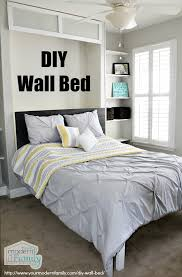 How To Make A Platform Bed With Headboard by Diy Wall Bed For 150