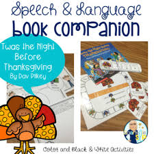 speech language and literacy twas the before thanksgiving
