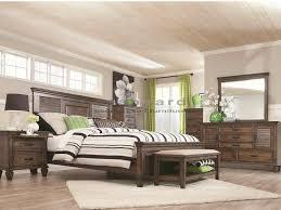 coaster 200971 franco burnished oak 6pc king bedroom set