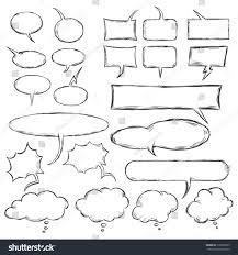 vector talk think vector sketch bubbles stock vector 170383259