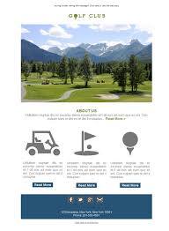 free newsletter template golf course club