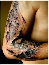 ripped skin free design