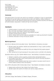 guidance counselor resume sle school counselor resume best resume collection