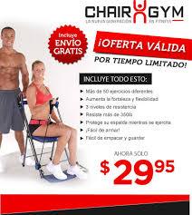 Chair Gym Com Chair Gym La Manera Más Fácil De Ejercitar Todo Su Cuerpo En