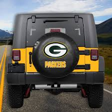 jeep green green bay packers tire cover automotive outdoor