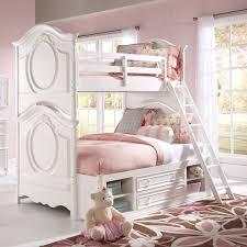 White Twin Over Full Metal Bunk Beds Kids Teens Dorm Wladder - Girls white bunk beds