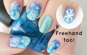 snowflake nails choose stamping or freehand youtube