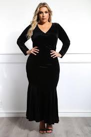 winter gala plus size velvet maxi dress dresses gs love