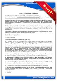 licensing agreement template free free printable source code escrow agreement form generic