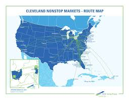 Air France Route Map by Non Stop Cities Cleveland Hopkins Airport