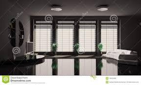 Wohnzimmer Einrichten Mit Schwarzem Sofa Schwarzes Wohnzimmer Innen3d Stockfotos Bild 13818463