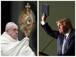 trump pope francis pope francis decries trump u0027s u0027mother of all bombs u0027 ahead of us