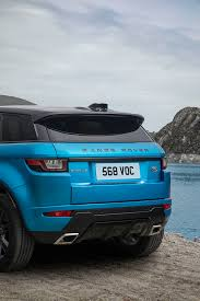 dark blue range rover land rover celebrates the range rover evoque landmark with a