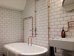 love the exposed pipes but prefer proper fittings rather than