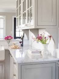 gray kitchen cabinets with white marble countertops classic white marble countertop painted kitchen cabinets