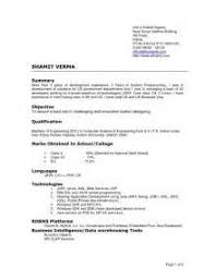 examples of current resume formats targeted resume format