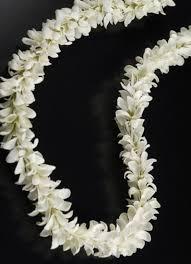 white garland flower garland