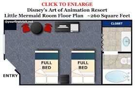 floor plans for kids photo tour of standard little mermaid rooms at disney u0027s art of