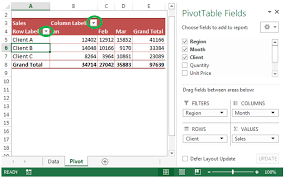 Pivot Table In Excel 2013 Show Hide Field Header In Pivot Table Microsoft Excel Tips From
