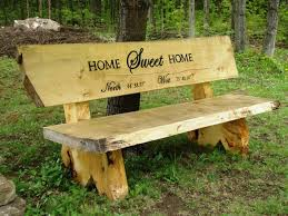 Garden Bench Ideas Bench Rustic Log Bench How To Build A Wooden Bench With Backrest