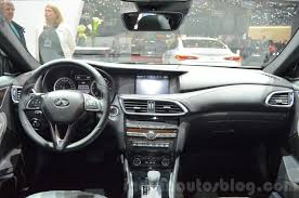 infiniti qx30 interior infiniti qx30 dashboard at the 2016 geneva motor show indian