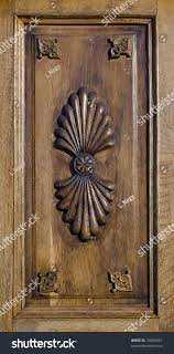 carved wood panel floral ornaments stock photo 23580451