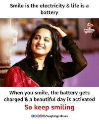 Keep Smiling Meme - smile is the electricity life is a battery colours when you