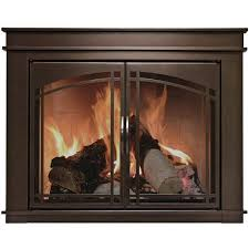Arched Fireplace Doors by Pleasant Hearth Farlane Cabinet Prairie Arch Style Fireplace Glass