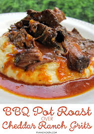 Best 25 Dr Pepper Roast Ideas On Pinterest Dr Pepper Pulled Bbq Pot Roast Over Cheddar Ranch Grits Plain Chicken