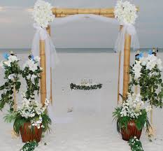 Bamboo Wedding Arch Clearwater Affordable Beach Weddings Clearwater Beach Weddings