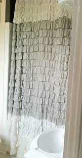 Gray Ruffle Shower Curtain Shower Curtains Ruffled Old World Home Furnishings 2015