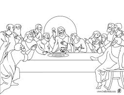 The Last Supper Coloring Pages Hellokids Com Last Supper Coloring Page