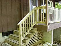 how to build a basic 2x4 handrail for a deck or balcony outdoor