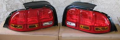 96 98 mustang tail lights 1996 1998 mustang export taillights kit pair fits all mustangs