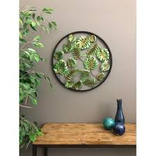 green wall decor tropical decor wayfair
