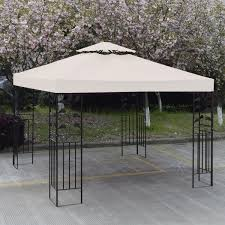 15 X 15 Metal Gazebo by Amazon Com 10 U0027 X 10 U0027 Gazebo Replacement Canopy Top Cover Beige