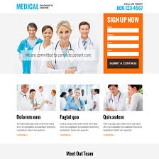 medical diagnostic center modern and clean responsive landing page