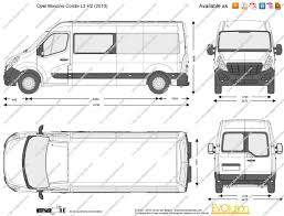 opel movano 2008 the blueprints com vector drawing opel movano combi l3 h2