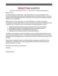 components of a good cover letter best aircraft mechanic cover letter examples livecareer