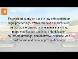 what is a forensic artist youtube